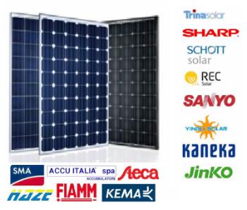 Impianto fotovoltaico stand alone - moduli fotovoltaici