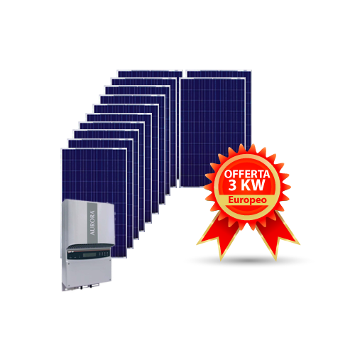 Kit fotovoltaico 3KW EUROPA