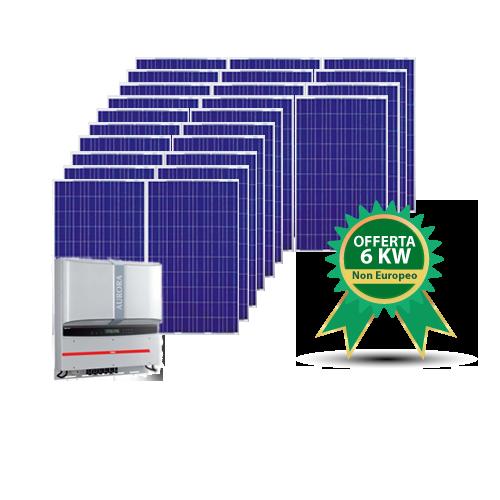 Kit fotovoltaico 6KW NON EUROPA